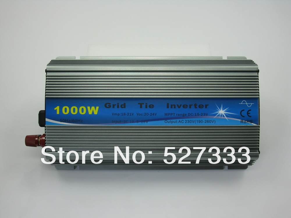 1000w New Grid Tie Inverter on grid System For Solar panel PV DC 36v (24-48v) to AC 220V/110v+10% Pure Sine Wave MPPT Function(China (Mainland))
