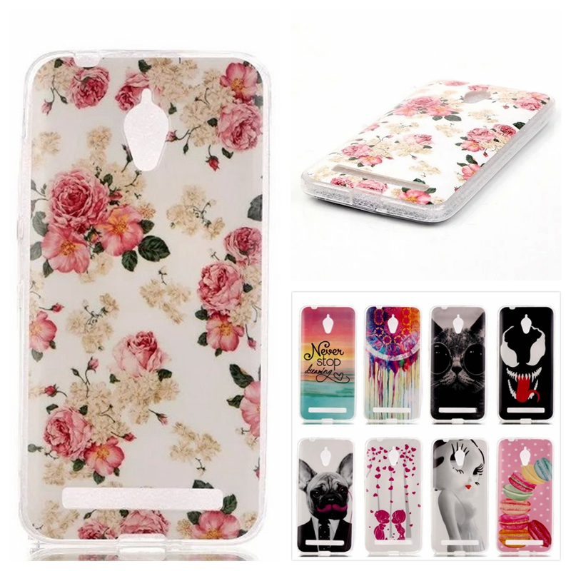 Hot Sale!Stylish Painted Silicone Rubber Soft TPU Back Cover For ASUS Zenfone Go ZC500TG 5.0 inch Phone Protective Cases(China (Mainland))
