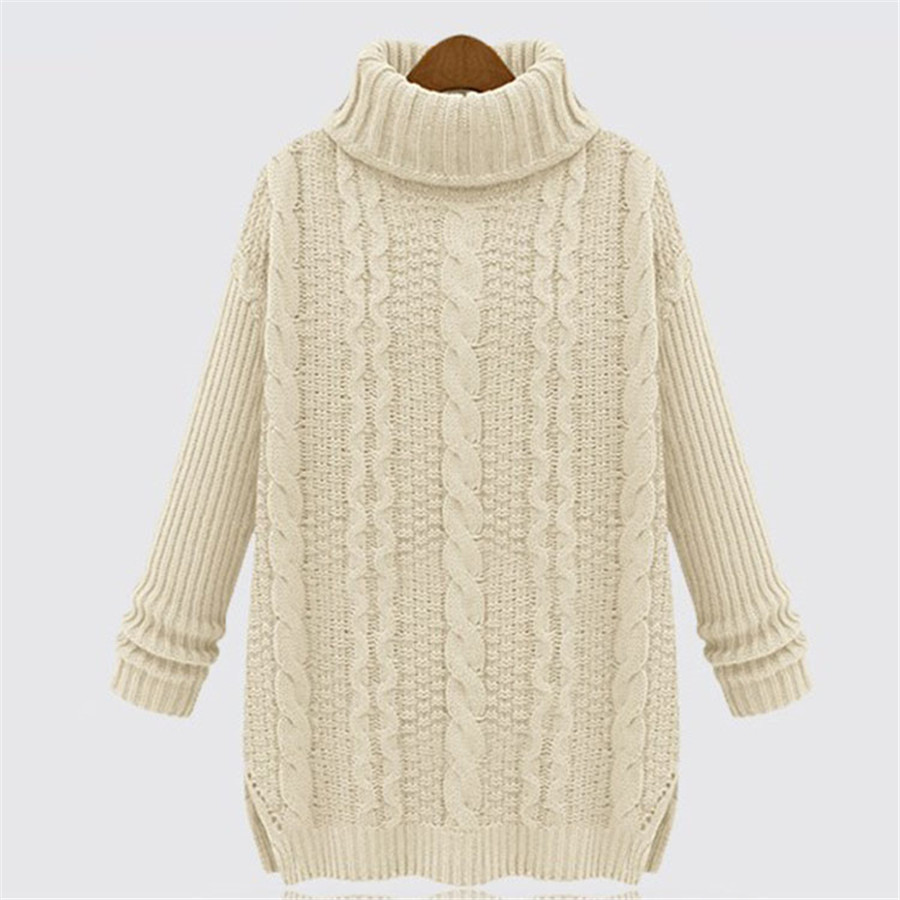 Autumn Winter Good Quality Women Casual Wear Sweaters Turtleneck Pullovers Four Colors Long Fashion Style Comfortable Wear Cozy(China (Mainland))