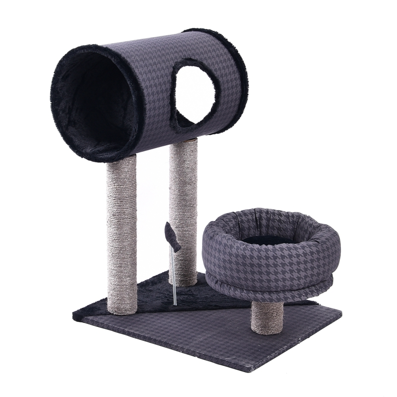 Cat Scratching Post With Tunnel