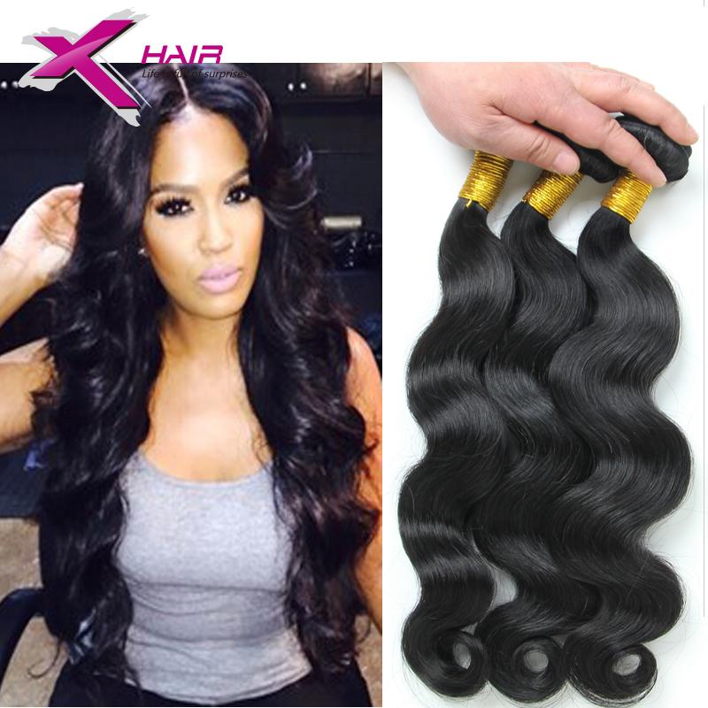 7A Brazilian Virgin Hair Body Wave Wavy Virgin Brazilian Human Hair Weave 3Pcs Unprocessed Human Virgin Hair Extensions(China (Mainland))