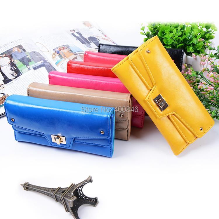 Women Change Purse 2015 Korean Fashion Small coin Purse PU Leather Zipper Women Purse Wallets bag Free Shipping(Hong Kong)