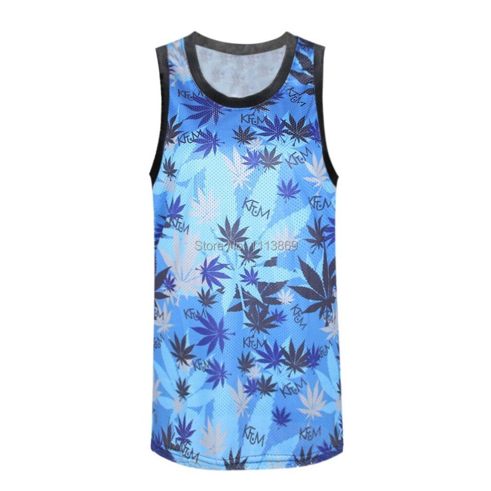 Olso Free Shipping new 2014 Harajuku galaxy the blue leaf world RIBS 3D print Vest tops camisole Sexy tank skinny sport T-shirt(China (Mainland))