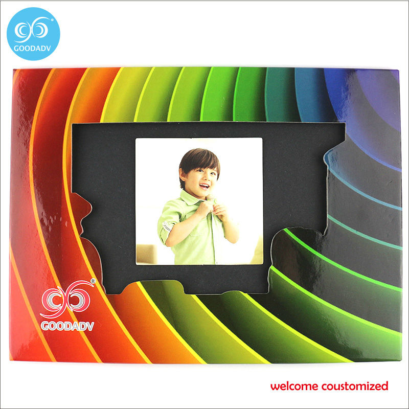 souvenir promotion baby picture photo frame free shipping fashion stand paper photo frame custom with your own logo photo frame(China (Mainland))
