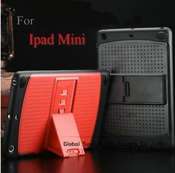 Luxury Stand case for ipad mini with 3 Adjustment support gear flip cover for ipad mini Fashion new year gift