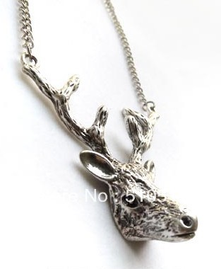 Fashion Deer Head Antler Necklace(China (Mainland))