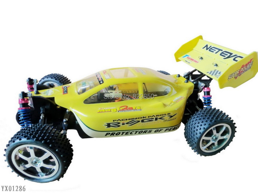 Free shipping 1:10 Scale RC truck Electric Powerful 4WD Racing Buggy radio remote control Car toys(China (Mainland))