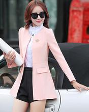 Hot sale high quality pure color women suits high-end fashion blazer women cultivate morality female jacket casual women blazer(China (Mainland))