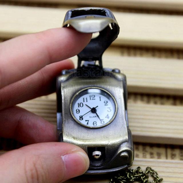Steampunk Mini Car Pocket Watch
