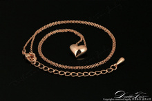 Simple Elegant Love Heart Cute Chains Necklaces Pendants 18K Rose Gold Plated Fashion Brand Vintage Jewelry