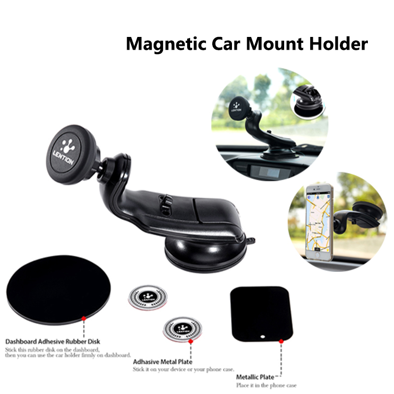 Excellent Universal 360 Degree Magnetic Car Mount Holder Windshield Dashboard Suction Cup Gel Pad Stand For iPhone 6 6S Samsung(China (Mainland))