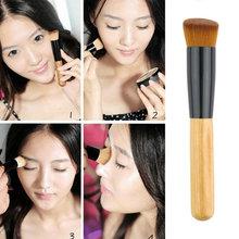 Professional Soft Fiber Angled Flat Top Foundation Powder Brush Cosmetic Tool  Drop Shipping Wholesale(China (Mainland))