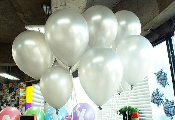 silver balloons 1.2g100pcs/lot Metallic Latex Helium Inflatable Thickening Pearl Balloons Wedding Decorations ballon Gray Ball(China (Mainland))