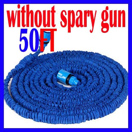 Free shipping Watering hose, rubber hoses extendable 50FT plastic hoses(China (Mainland))