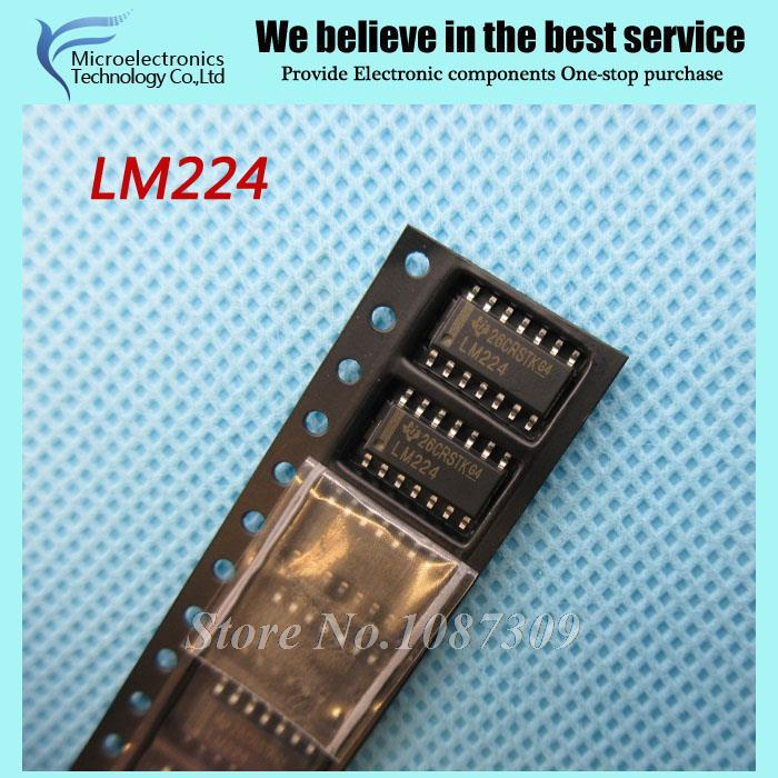 10pcs free shipping LM224 LM224DR LM224DT SOP-14 Operational Amplifiers - Op Amps 3-32V Quad Channel Lo PWR -25 to 85deg(China (Mainland))