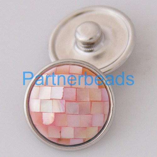 product OEM ODM 18MM shell snap button for snaps jewelry fit button bracelets from www partnerbeads com KB2801-AB