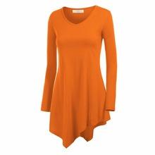 Stylish Women Hem Line Long Sleeve Lightweight Knit Tunic Tops T-shirts New  G20   DF1(China (Mainland))