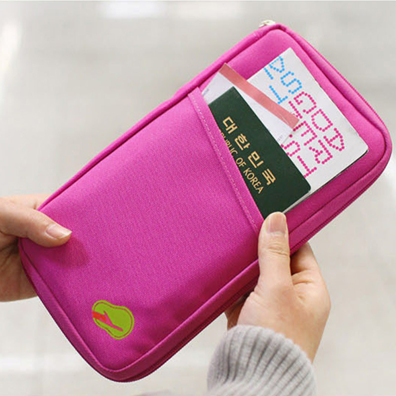 Travel Function Package Identity Card Passport Wallet Security Packet Women Credit Business Card Holder Pocket SHCBWH33(China (Mainland))