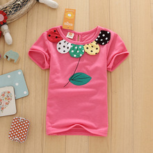 2016 Summer New Children T Shirts girls Kids Leaves color T-Shirt Designs Clothing For Boys Baby Clothing Girls T-Shirts 2-5T