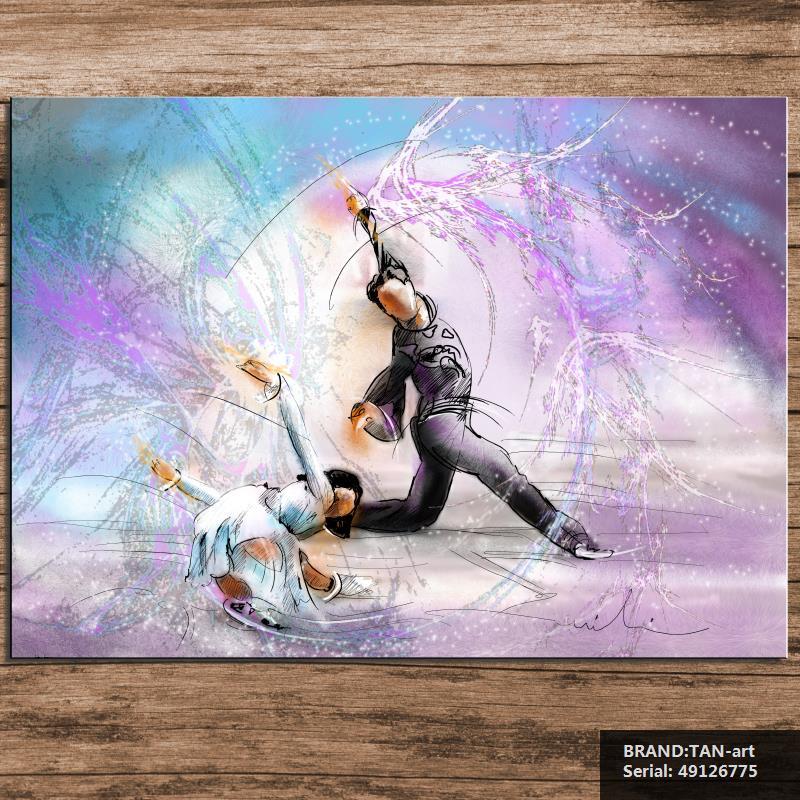 Pinturas de patinaje art stico compra lotes baratos de - Enmarcar sin marco ...