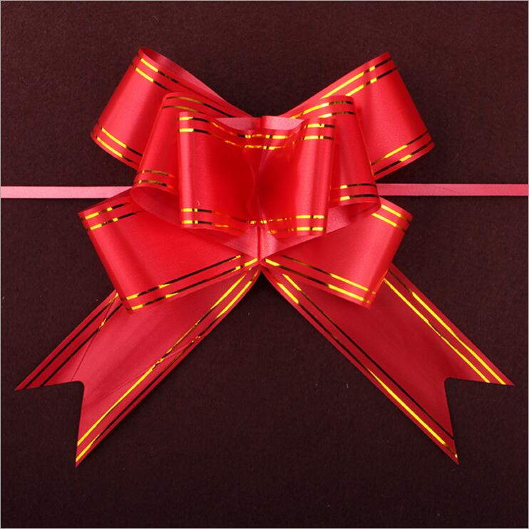 30pcs lot size xxl 50 780mm red pull bows ribbons flowers for Decoration xxl