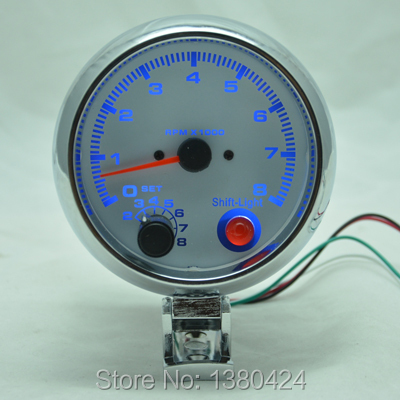 3.75inch (95.25mm) blue light LED tachometer gauge RPM auto meter f ree shipping<br><br>Aliexpress