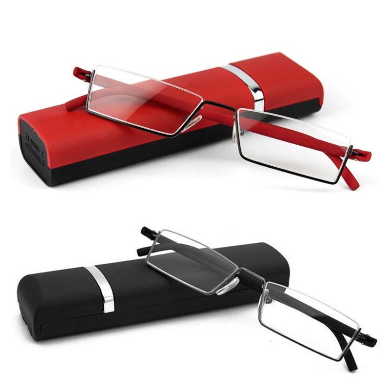 1PC Unisex Light Reading Glasses 1.0 To 4.0 Red/Black TR90 Eyes Care Healthy Beauty Tool