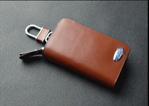Rectangle Key chain case for FORD for Cadillac car styling 100% Genuine Leather hard -YSB-2(China (Mainland))