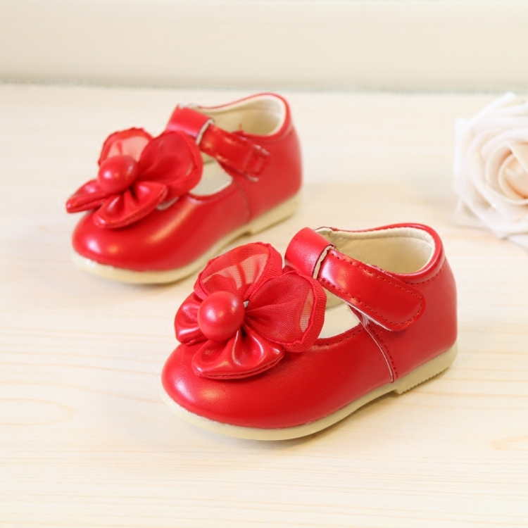 2016 Spring Children's Shoes Female Baby's Soft Bottom Cute Bow Party Bow Leather Shoes Girls Princess Toddlers Firstwalkers(China (Mainland))