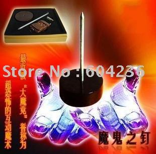 Devil's Nail Laser Beam Edition Mentalism Magic Trick 1pcs/lot for magic nail wholesale(China (Mainland))