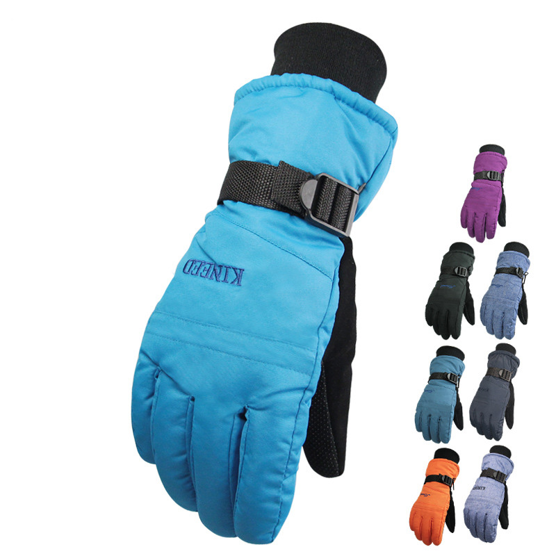 Windproof Ski Gloves Couple Cold-proof Thermal Gloves Winter Ride Electric Bicycle Gloves(China (Mainland))