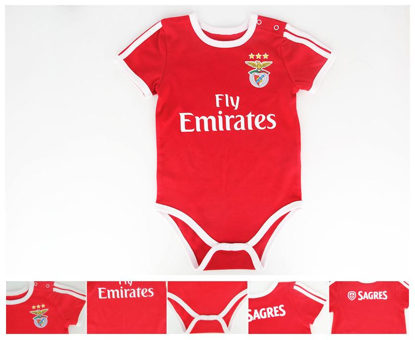 Baby benfica onesie romper 2015 2016 babysuit LUISAO LIMNA NICO GAITAN SALVIO soccer jumpersuit Home Red for infant Baby<br><br>Aliexpress