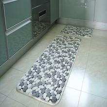 Coral fleece front bed mat natural emulsion kitchen bar floor mat bathroom anti-slip carpet living room decoration tapetes 2size(China (Mainland))