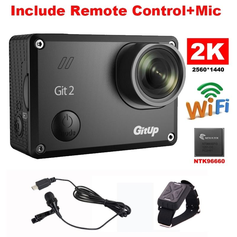 Free Shipping!Gitup Git2 Novatek 96660 1080P WiFi 2K Outdoor Sports Action Camera+Mic+Remote Control<br><br>Aliexpress