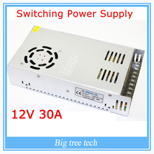 12V 30A 360W switching power supply adapter led strip light transformer 12v for free shipping for