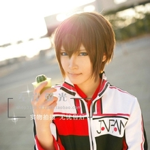 Free Shipping The Prince of tennis Fuji Syusuke 35CM Short Hair Wig Cosplay party Wigs Fashion