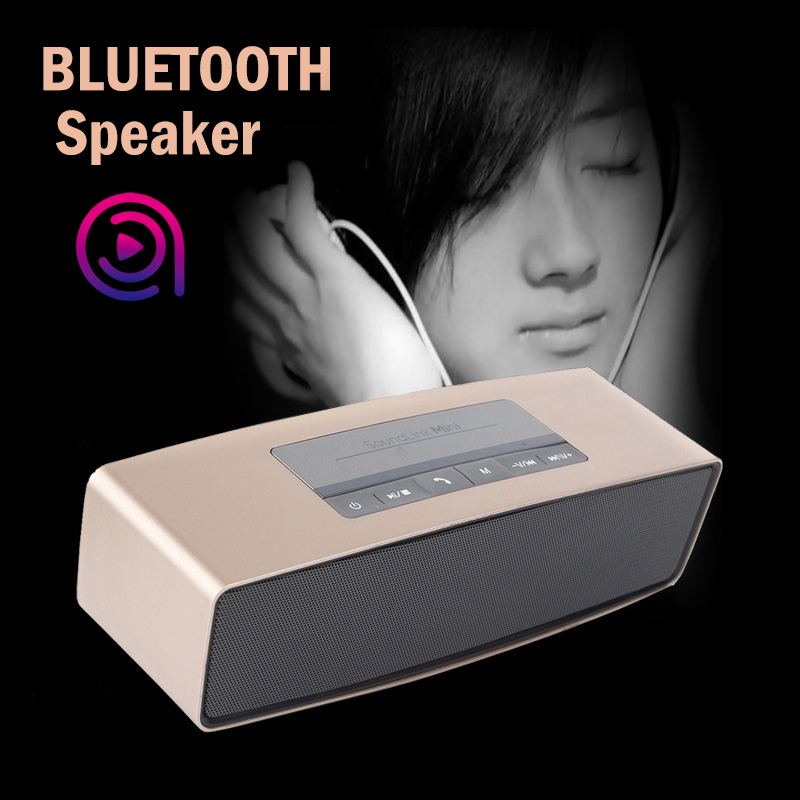 Portable audio Speakers 2016 Blutooth 3D Surround Subwoofer Stereo HIFI Speakers Bluetooth mini Speaker Support SD card soundbar(China (Mainland))