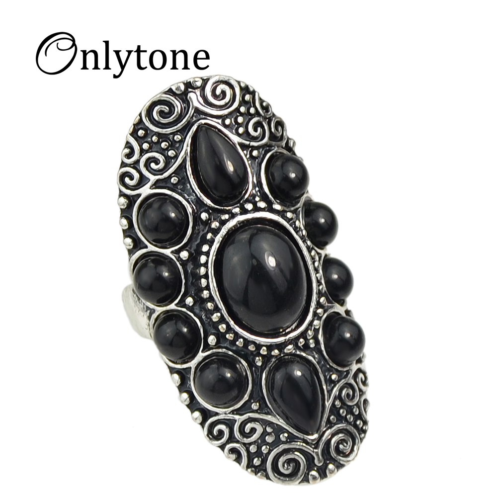 buy onlytone retro style antique gold silver with big created gemstone finger