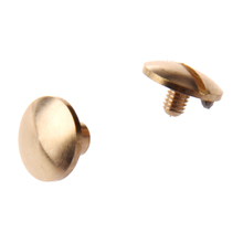 Buy SZ Hot 10x Arc Solid Brass Button Stud Screw Nail Screw back Leather Rivet Belt 4mm for $1.57 in AliExpress store