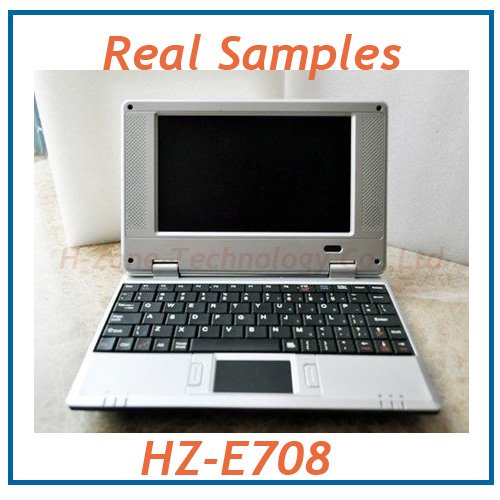 Free Shipping 7 inch wifi mini laptop,EPC&UMPC With VIA8650 800Mhz CPU,256M ram&2G Storage,Wince 6.0 or android 2.2 OS WIFI(Hong Kong)