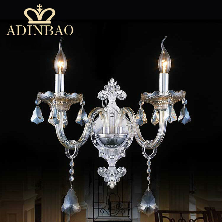 Crystal Wall Sconces For Bedroom : Chrome Color Top K9 Crystal Wall Sconce Ornament Candle Bedroom Lamp Modern Led Wall Light 9501 ...
