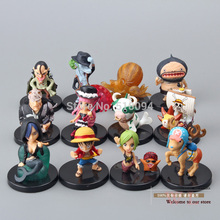 Free Shipping Anime One Piece Lufft Chopper Perona Shyarly Keim PVC Action Figure Model Toys Dolls 12pcs/set OPFG324