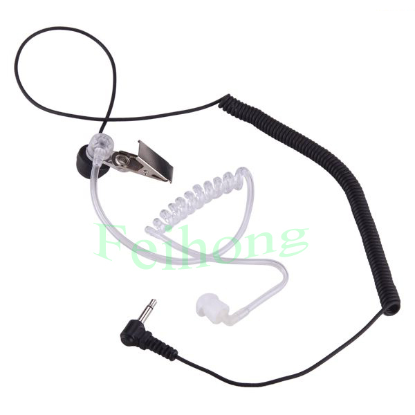 2 Pin Mic PTT Covert Acoustic Tube Earpiece Headset for Motorola ICOM two way radio walkie talkie(China (Mainland))
