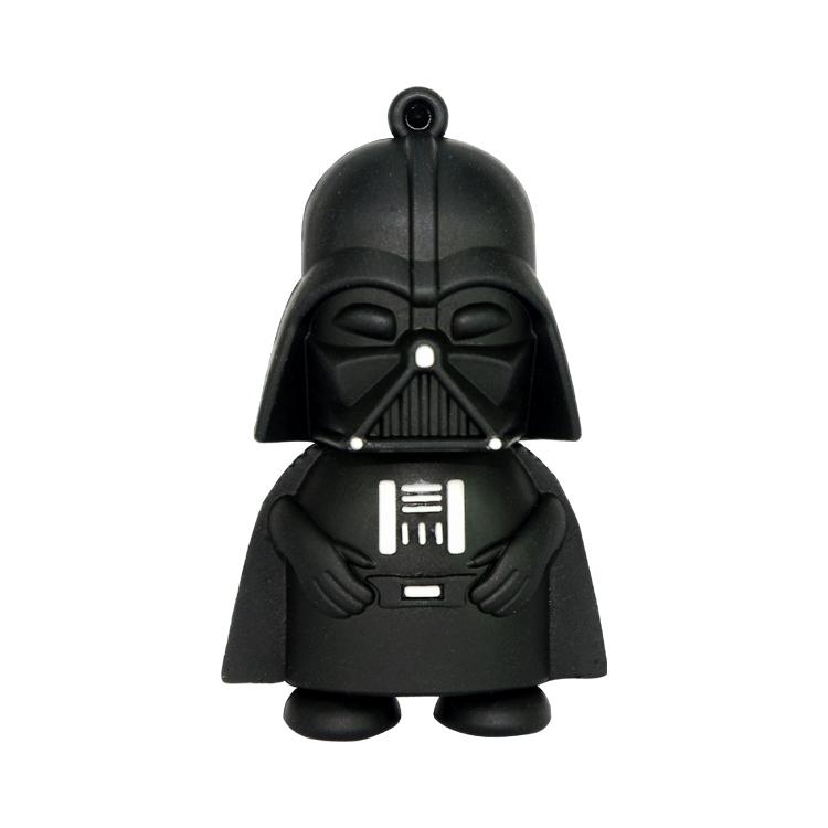 100% real capacity 4GB 8GB 16GB 32GB star war Dark Darth Vader model Flash Drive pen drive memory stick U Flash Disk USB drives(China (Mainland))