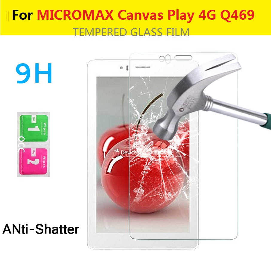 0.3mm 2.5D 9H HD lcd tempered screen glass film MICROMAX Canvas Play 4G Q469 5.5inches Anti-shatter protective films - X'MAS GIFT STORE store