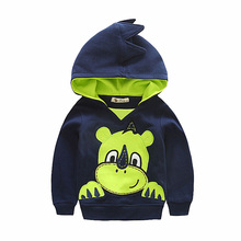 Winter Autumn 2016 Fashion Kids Long Sleeve Hooded Jacket Loose Warm Sport Hoodies Solid Sweatshirt Plus(China (Mainland))