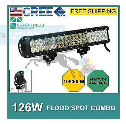 FREE FEDEX SHIPPING! 20 INCH 126W CREE LED LIGHT BAR FLOOD BEAM OFFROAD LAMP FOR TRACTOR BOAT MILITARY EQUIPMENT ATV 4WD LED BAR(China (Mainland))