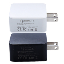 Hot Sale Quick Charge 2.0 Mobile Phone Charger 1.67A/12W US Plug for Android Samsung Galaxy SONY HTC LG