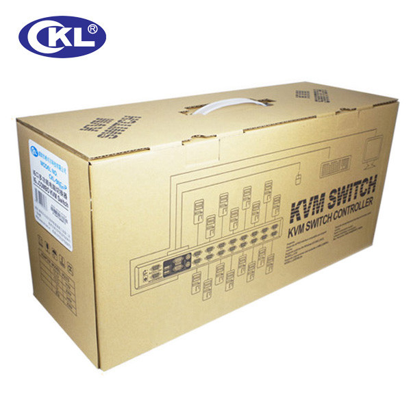 CKL 16 Port PS2 OSD KVM Switch with Cables, KVM Switcher for Keyboard Video Mouse Rackmount with OSD Function CKL-9116P