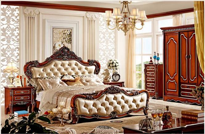 New Furniture Bedroom Set Antique Solid Wood Bedroom Furniture
